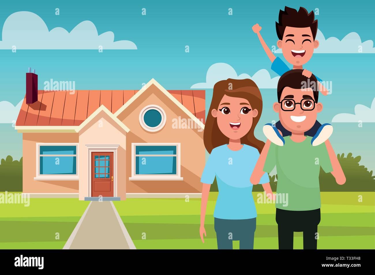 Family Cartoon High Resolution Stock Photography And Images Alamy Caricature artist draw cartoon portrait & custom cartoon design. https www alamy com family outdoors from home cartoon image242867220 html