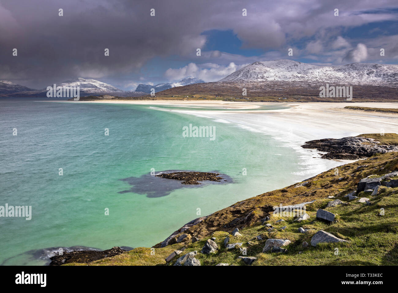 Cold spring day at Sheileboist, Isle of Harris, Western Isles, Scotland - Stock Image