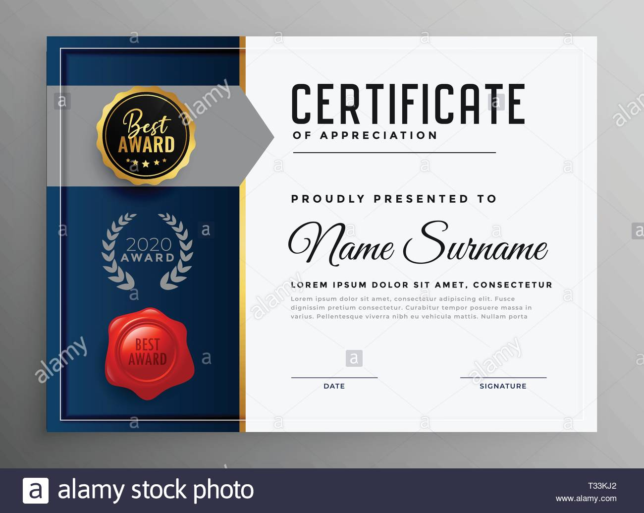 certificate of appreciation template royalty free vector.html