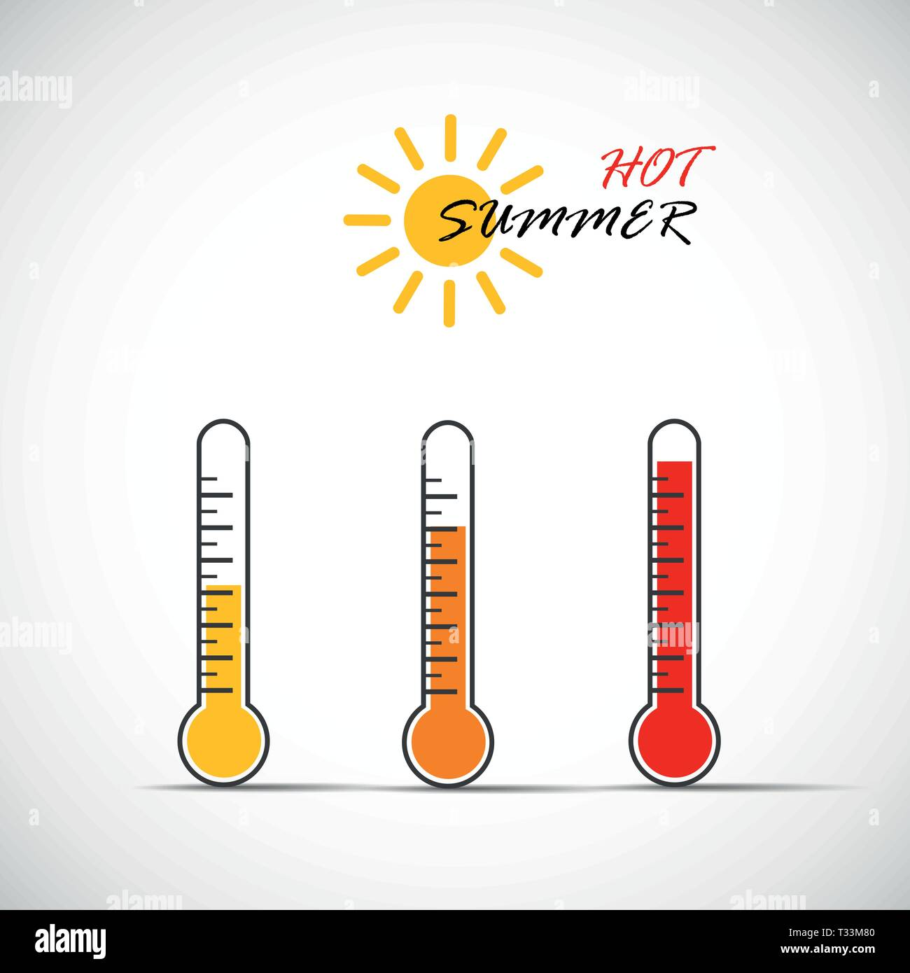 heat thermometer icon hot summer symbol vector illustration EPS10 - Stock Vector