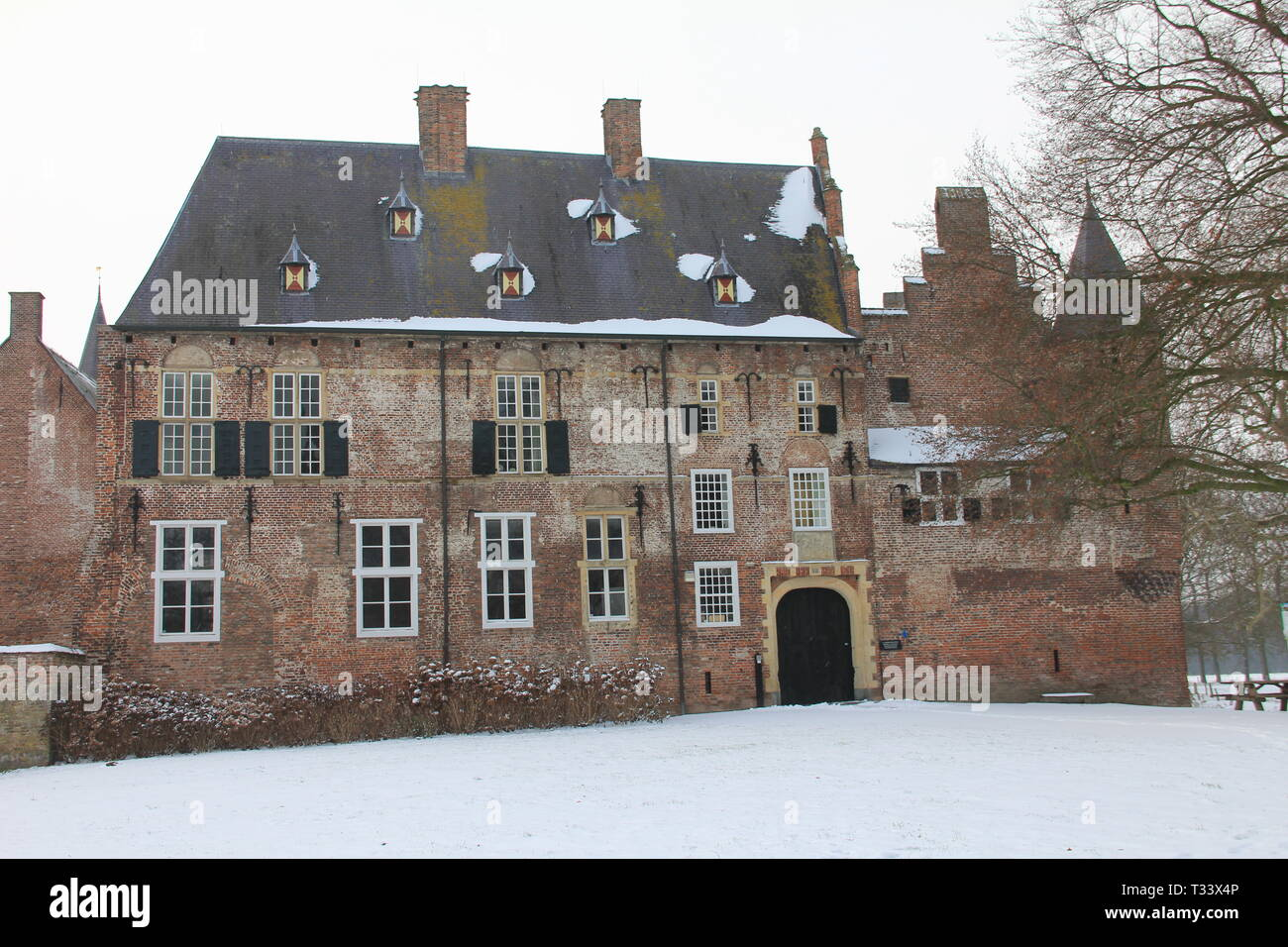 Hernen Castle in the winter Stock Photo