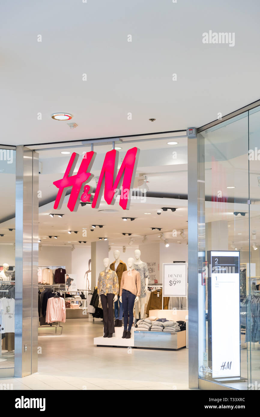 6876679825 Philadelphia Pennsylvania,October 7 2018:HM fashion store in Philadelphia.  H&M is a