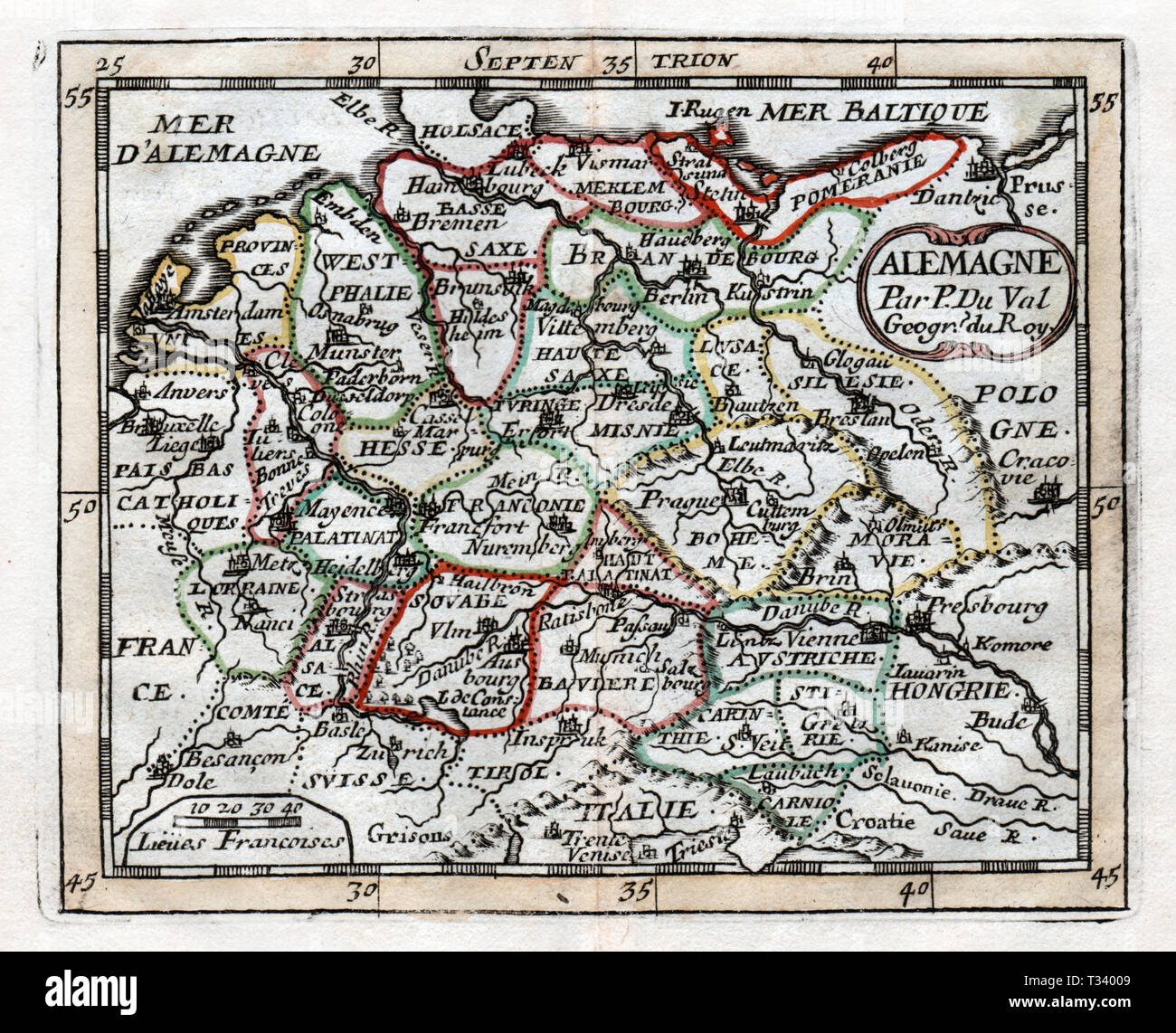 Map Of Holland And Germany.Antique Map Of Germany Holland Austria And Hungary In Europe By