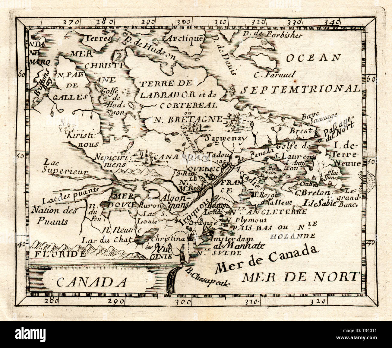 Map Of Canada New Brunswick.Antique Map Of Canada And New England Showing Nova Scotia New