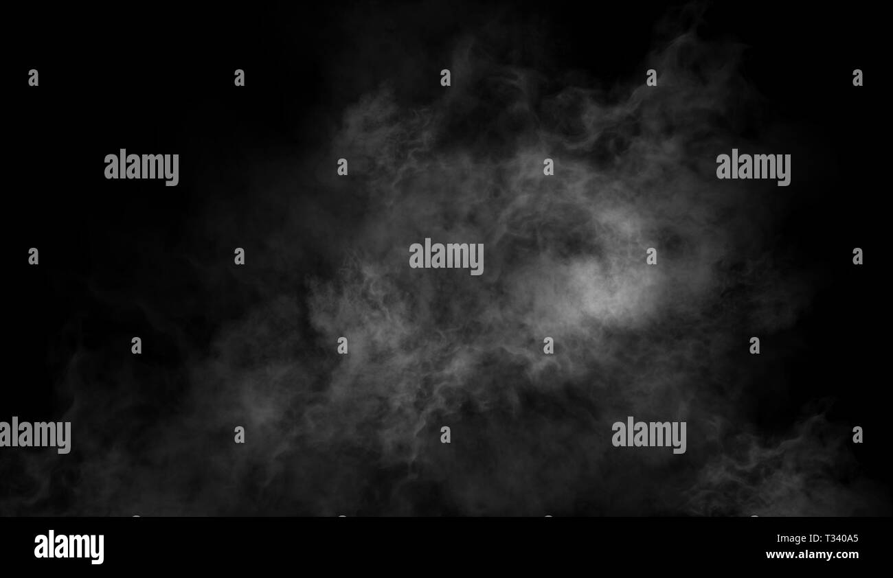 Abstract smoke steam moves on a black background   The