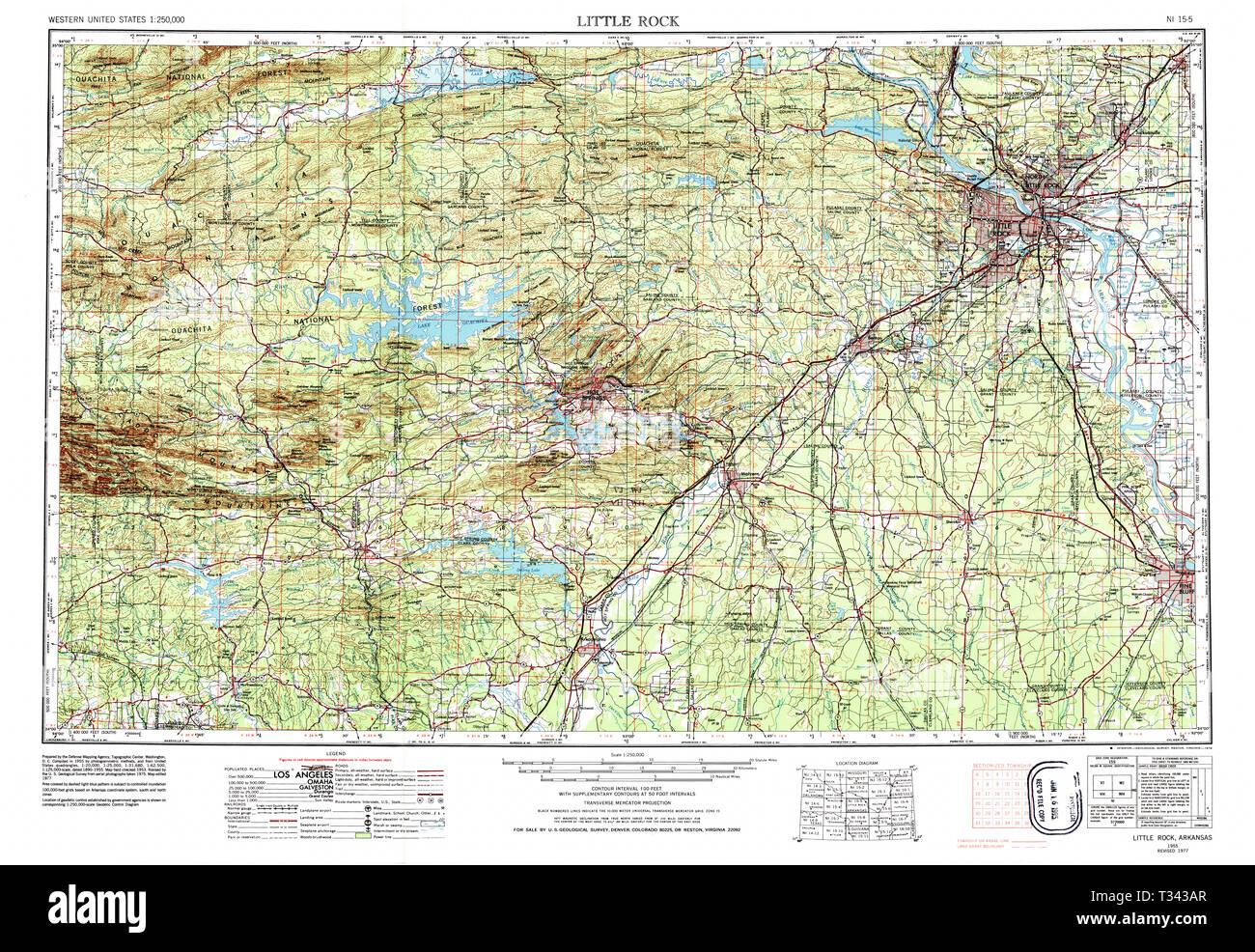 USGS TOPO Map Arkansas AR Little Rock 260603 1955 250000 ...