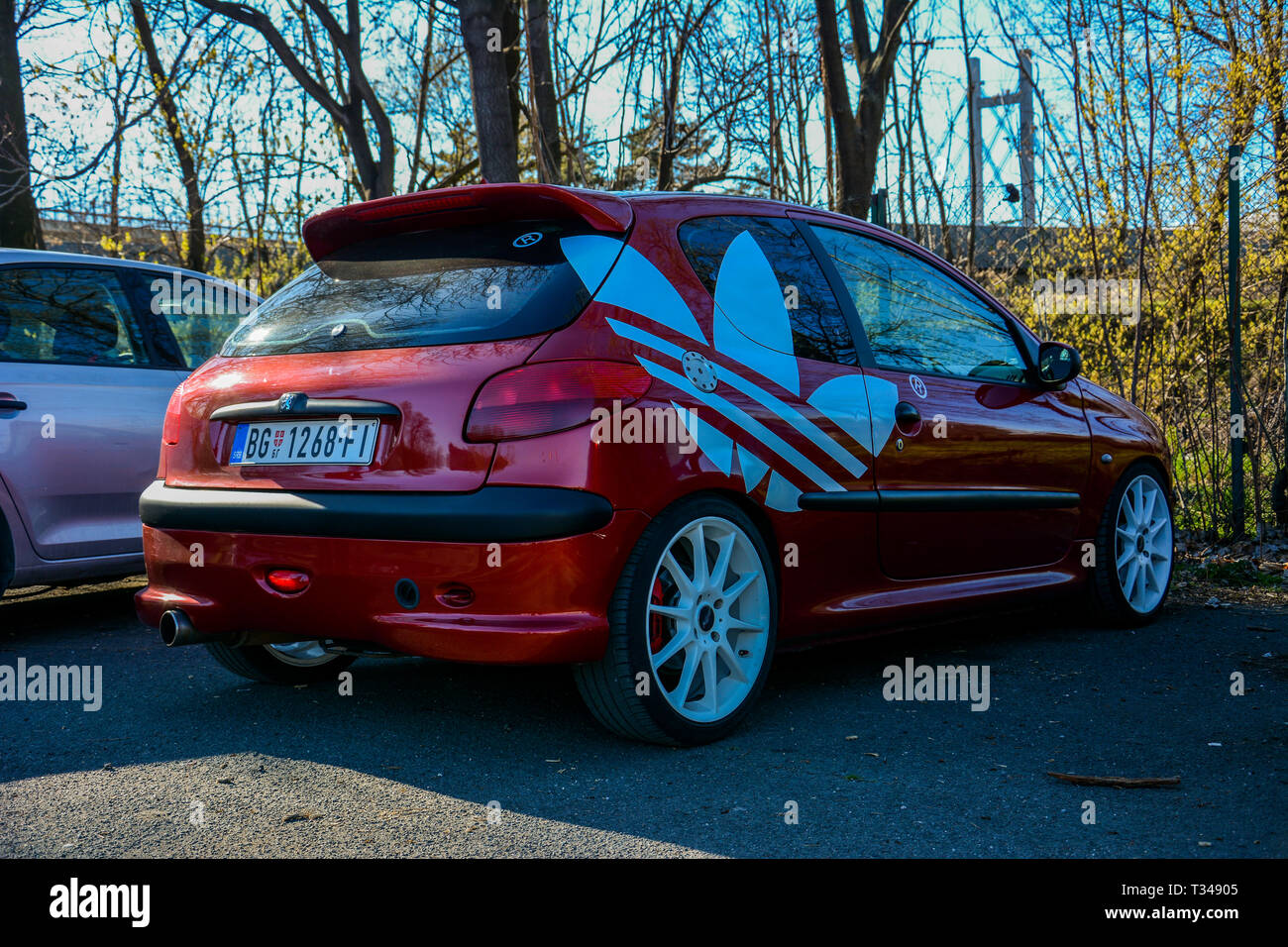 Peugeot 206 Tuning Last Part Stock Photo Alamy