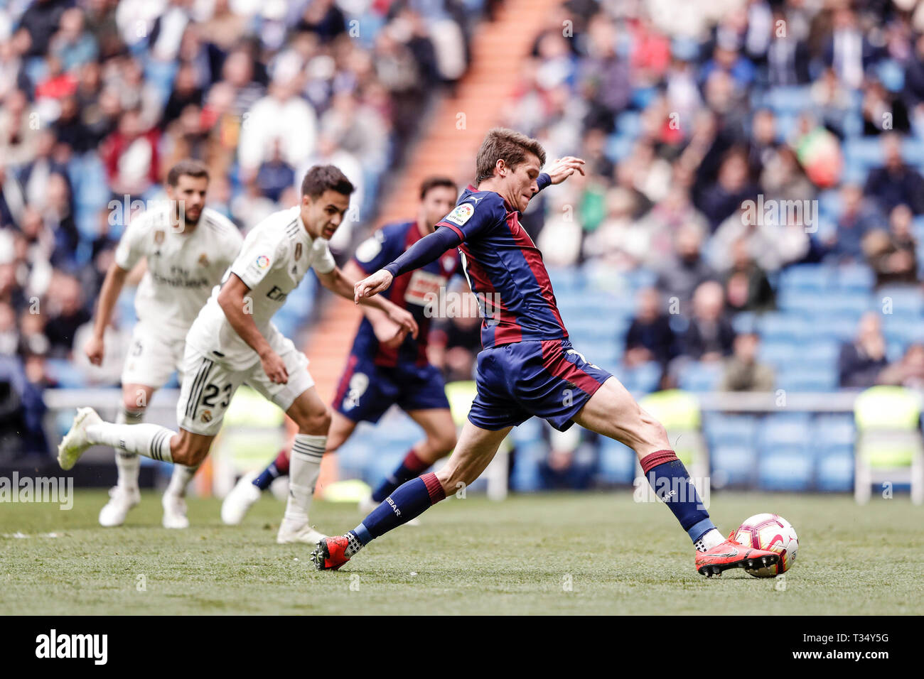 Santiago Bernabeu Madrid Spain 6th Apr 2019 La Liga Football