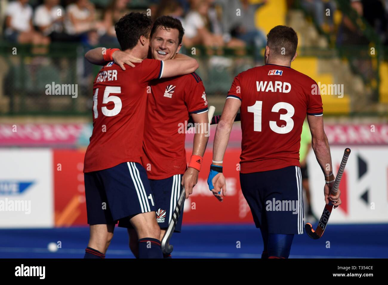 Rosario Argentina 06th Apr 2019 Uk Players Celebrate After