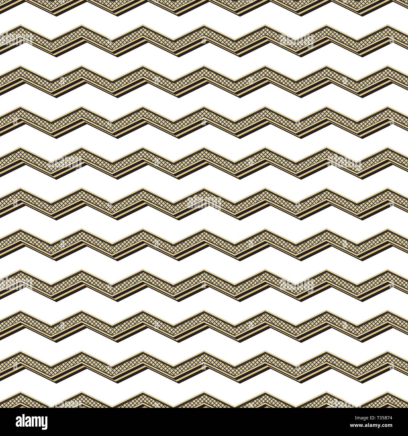 Retro zigzag pattern, abstract geometric background in 80s
