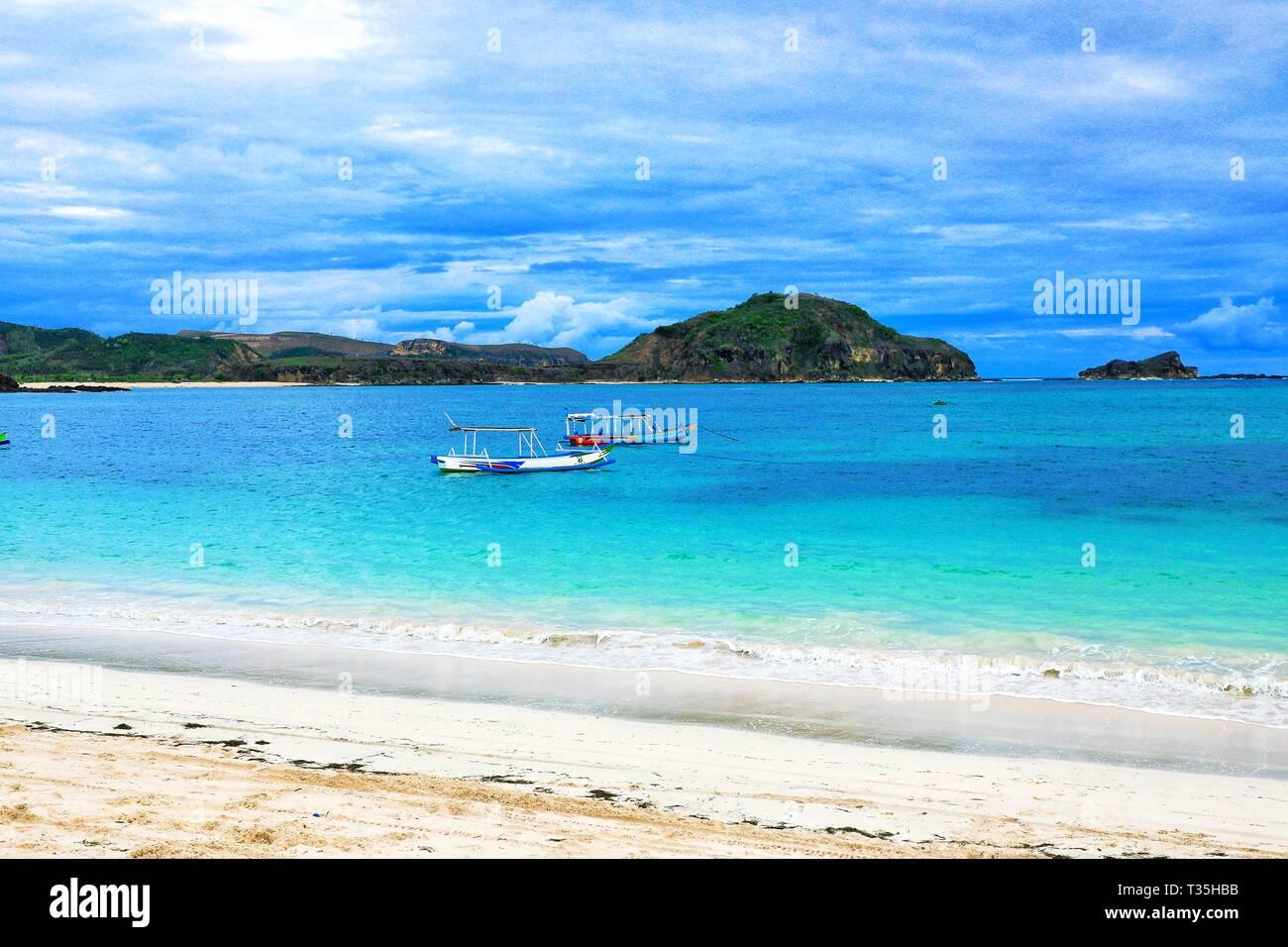 Tajung Aan, Beach at Lombok, Indonesia - Stock Image