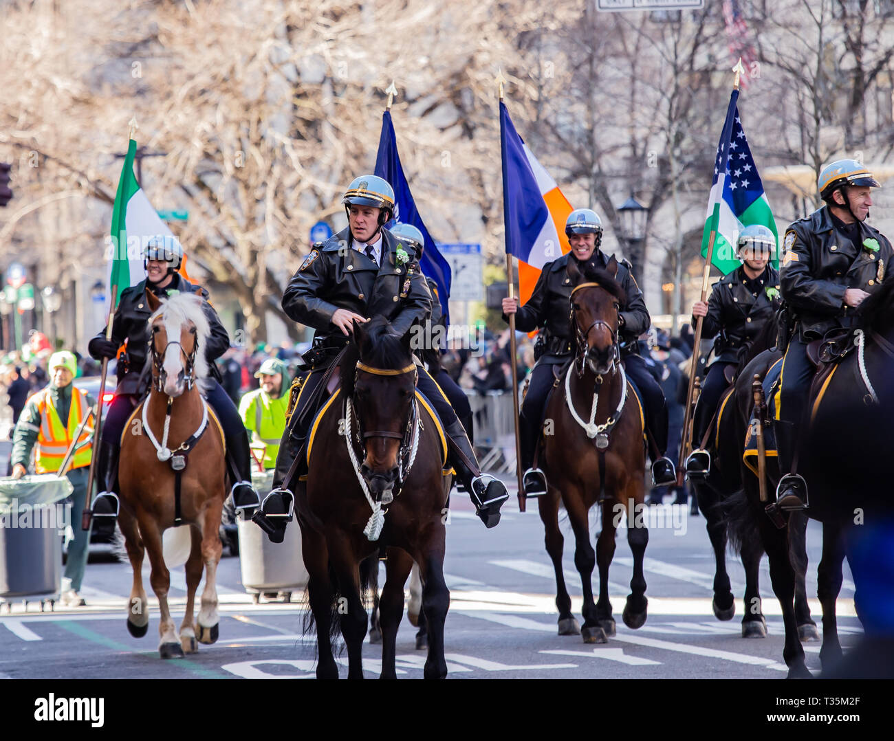St. Patrick's Day Parade in New York City, 2019 - Stock Image