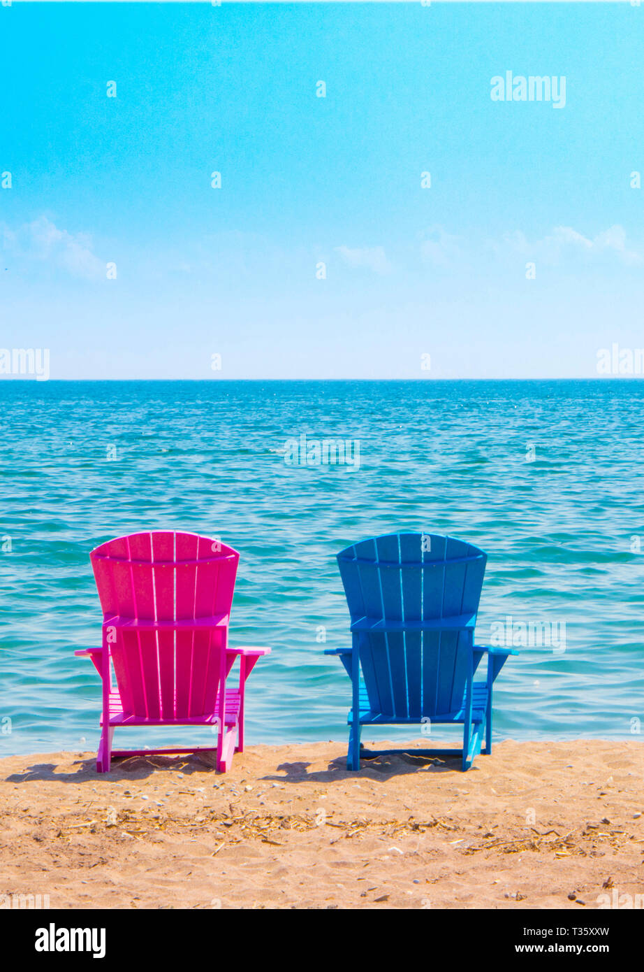 Pink Beach Chairs High Resolution Stock Photography And Images Alamy