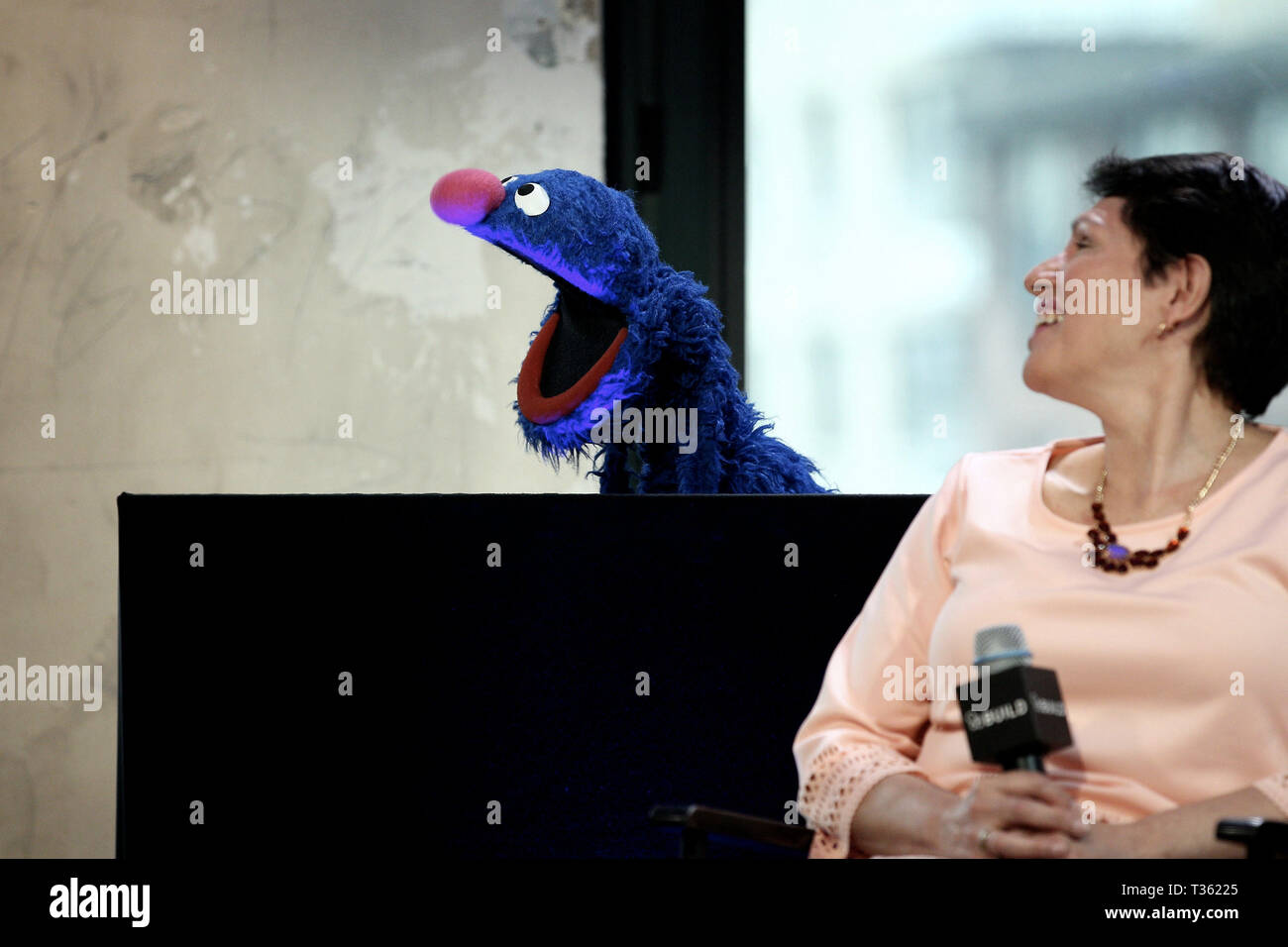 New York, USA  12 May, 2015  Grover, of Sesame Street, and