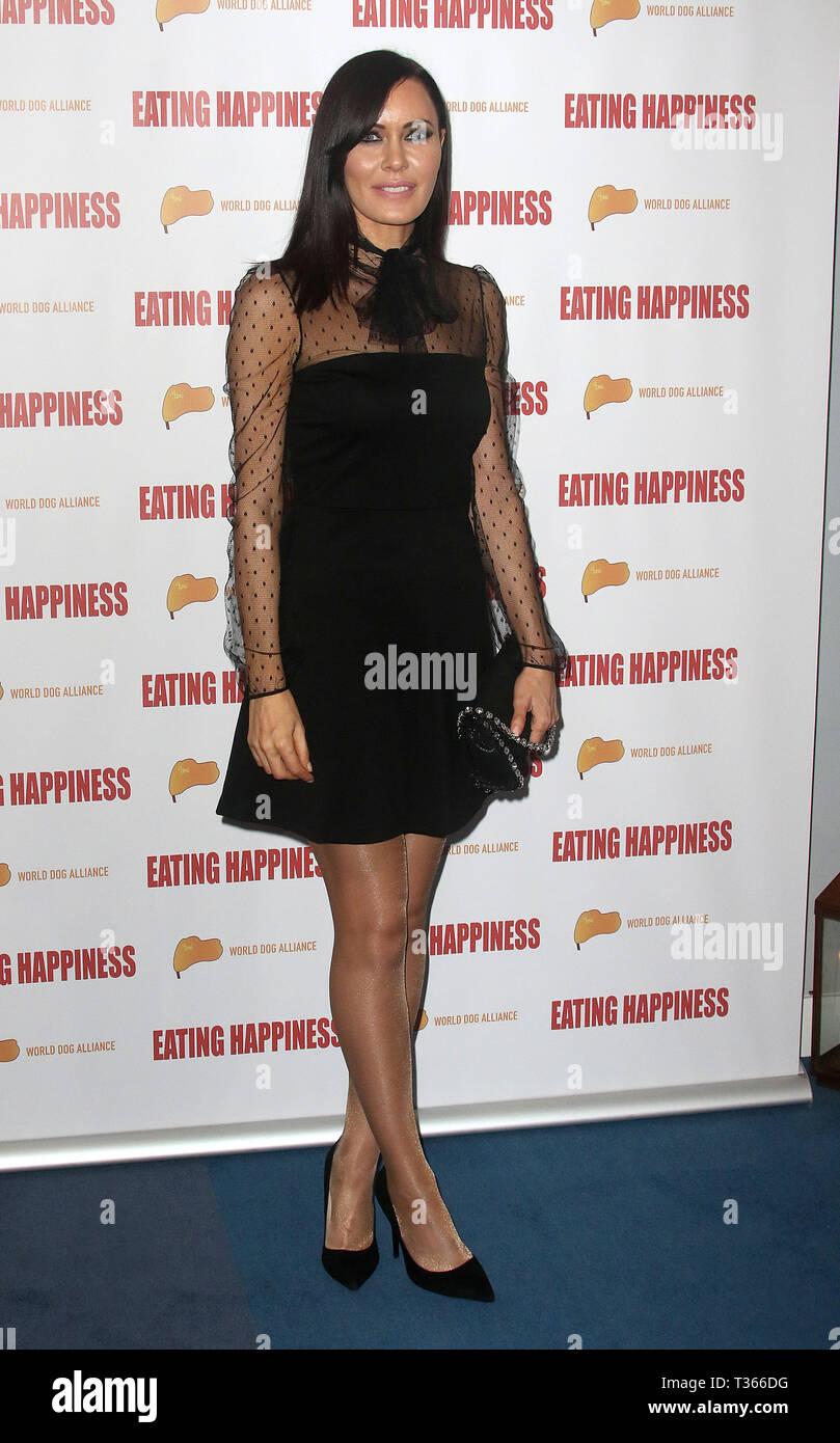 Jan 25, 2016 - London, England, UK - 'Eating Happiness' - VIP screening at the Mondrian Hotel, London Photo Shows: Linzi Stoppard - Stock Image