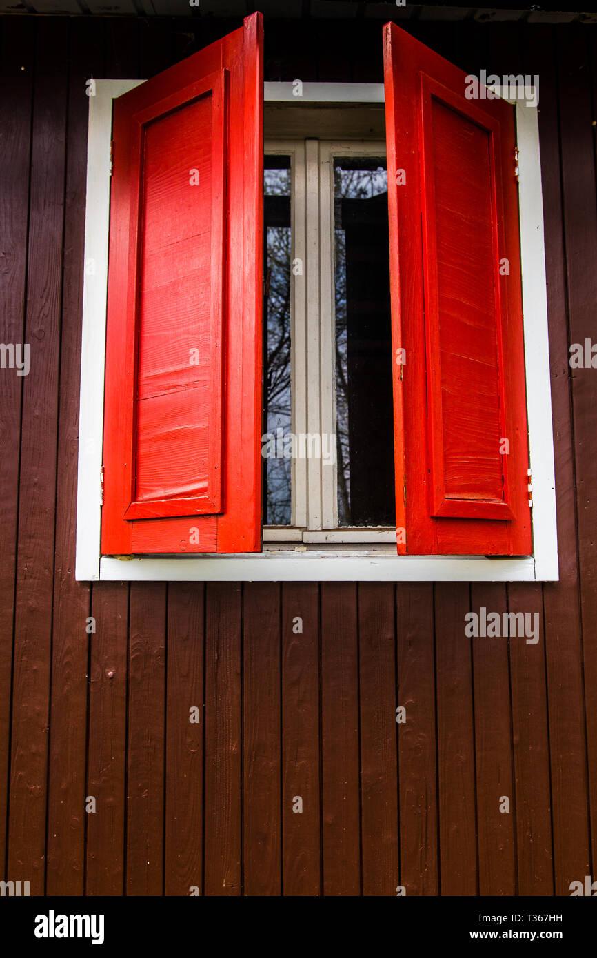 Fenster im Skandinavischen Stil; window in skandinavia style - Stock Image