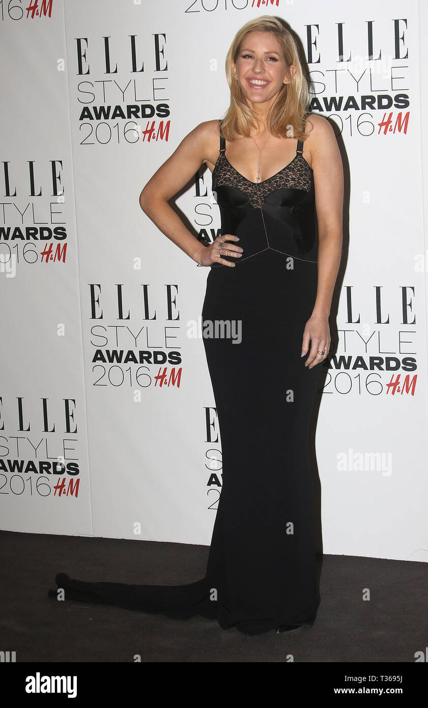 Feb 23, 2016 - London, England, UK - Elle Style Awards 2016 - Red Carpet Arrivals Photo Shows: Ellie Goulding - Stock Image