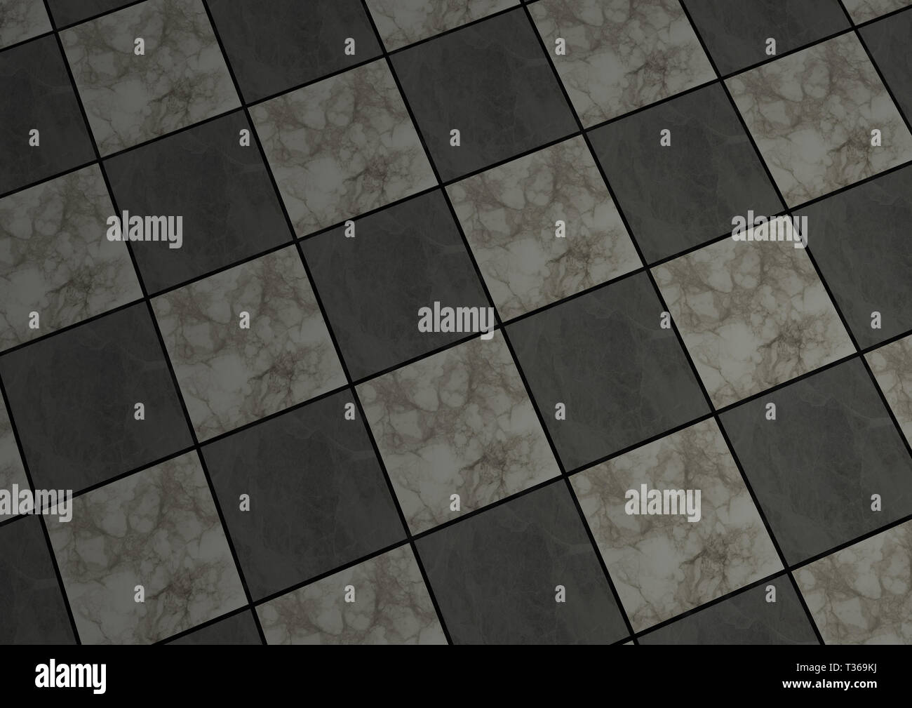 3d Render Of Background Texture Of White And Grey Tiled Marble Floors In A Diagonal Checkered Pattern Stock Photo Alamy