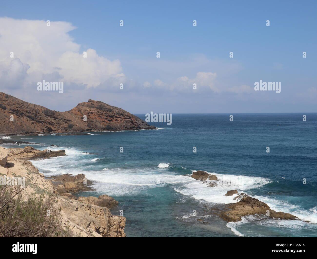 Beach on Porto Santo Island - Stock Image