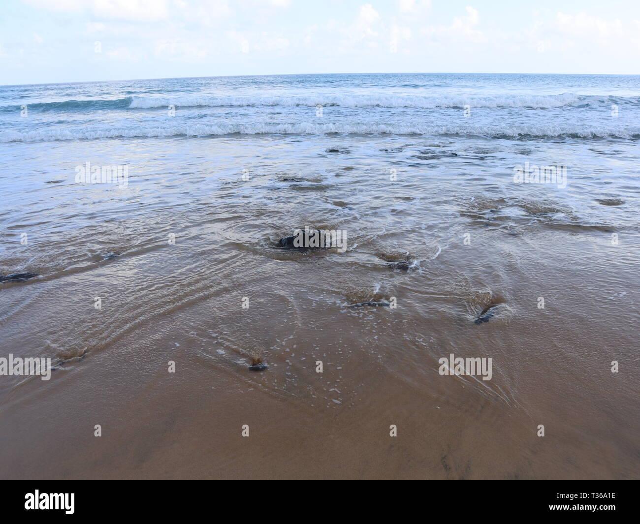 Beach in Porto Santo, Portugal - Stock Image