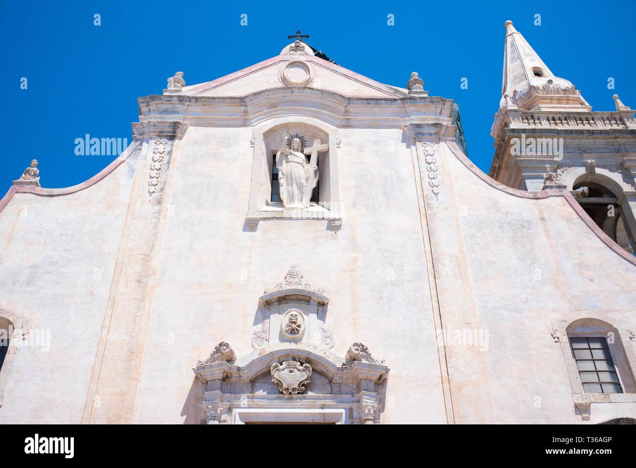 San Giuseppe Church in Piazza IX Aprile - Piazza Nove Aprile -  in Taormina, East Sicily, Italy Stock Photo