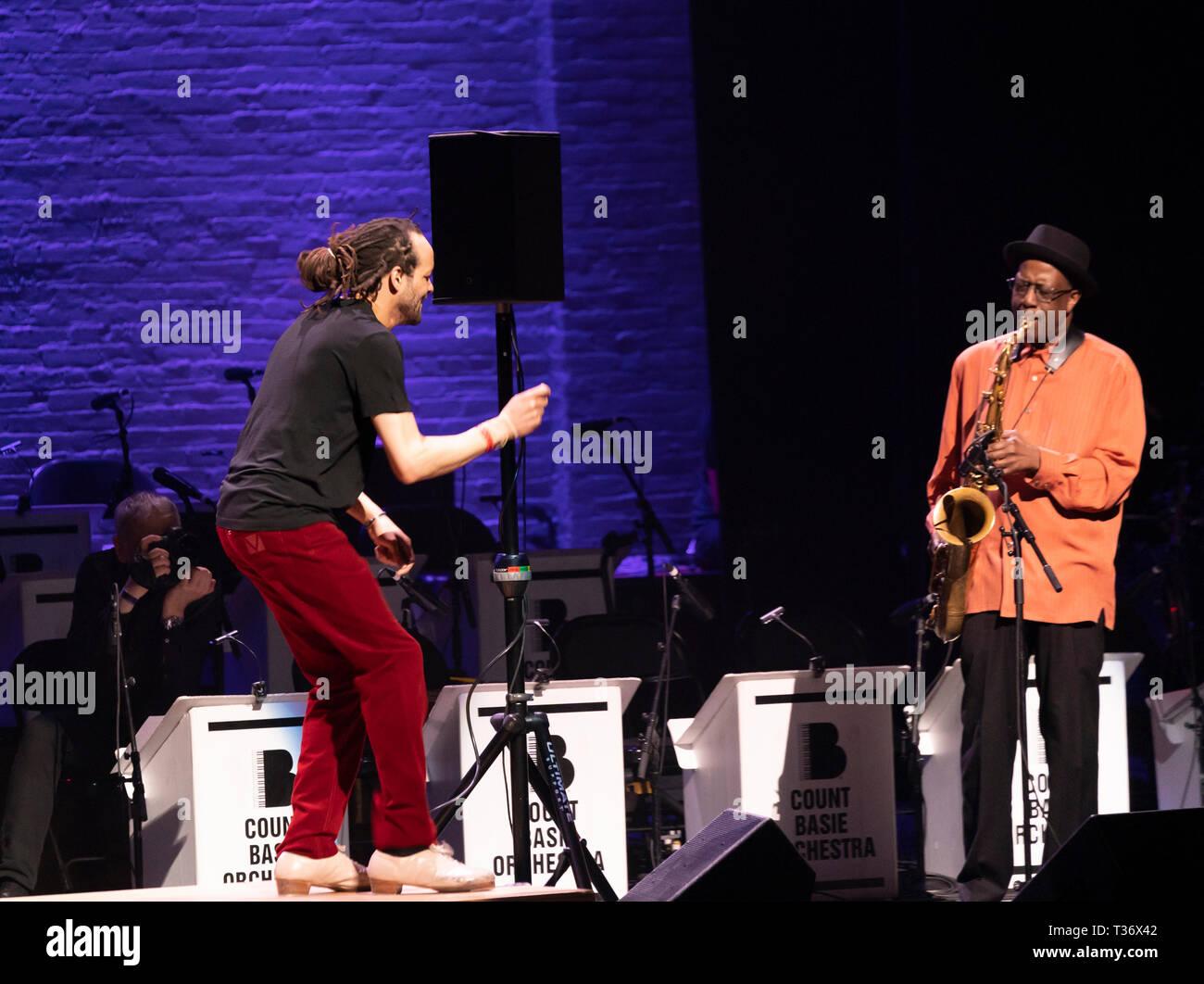 New York, NY - April 4, 2019: Savion Glover performs tap