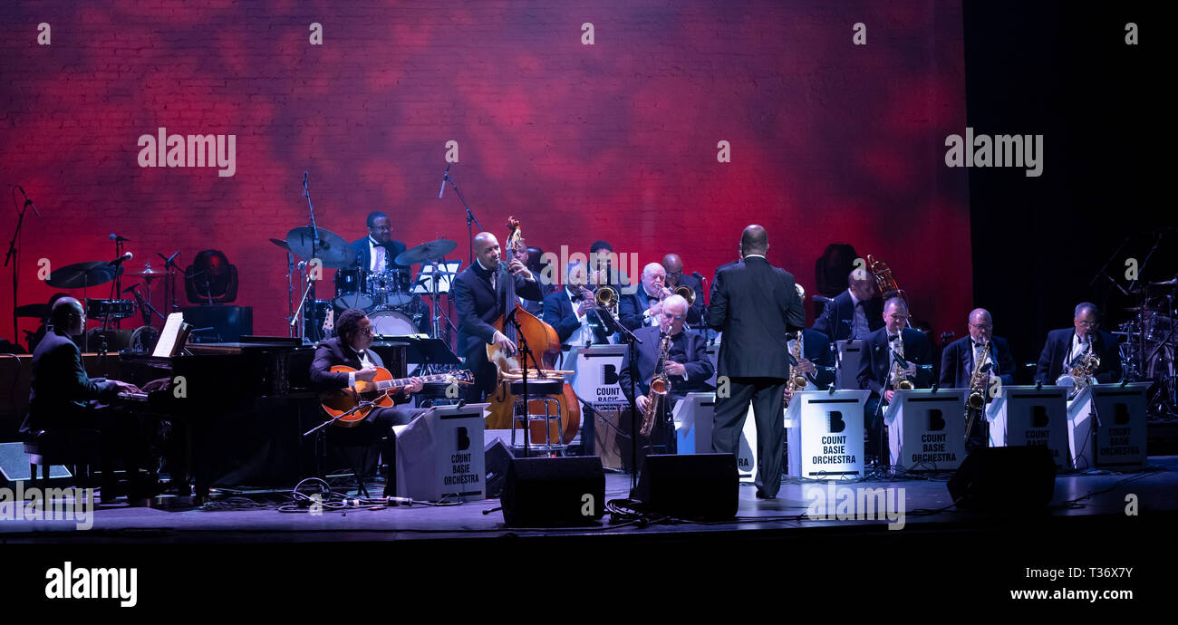 New York, NY - April 4, 2019: The Count Basie Orchestra