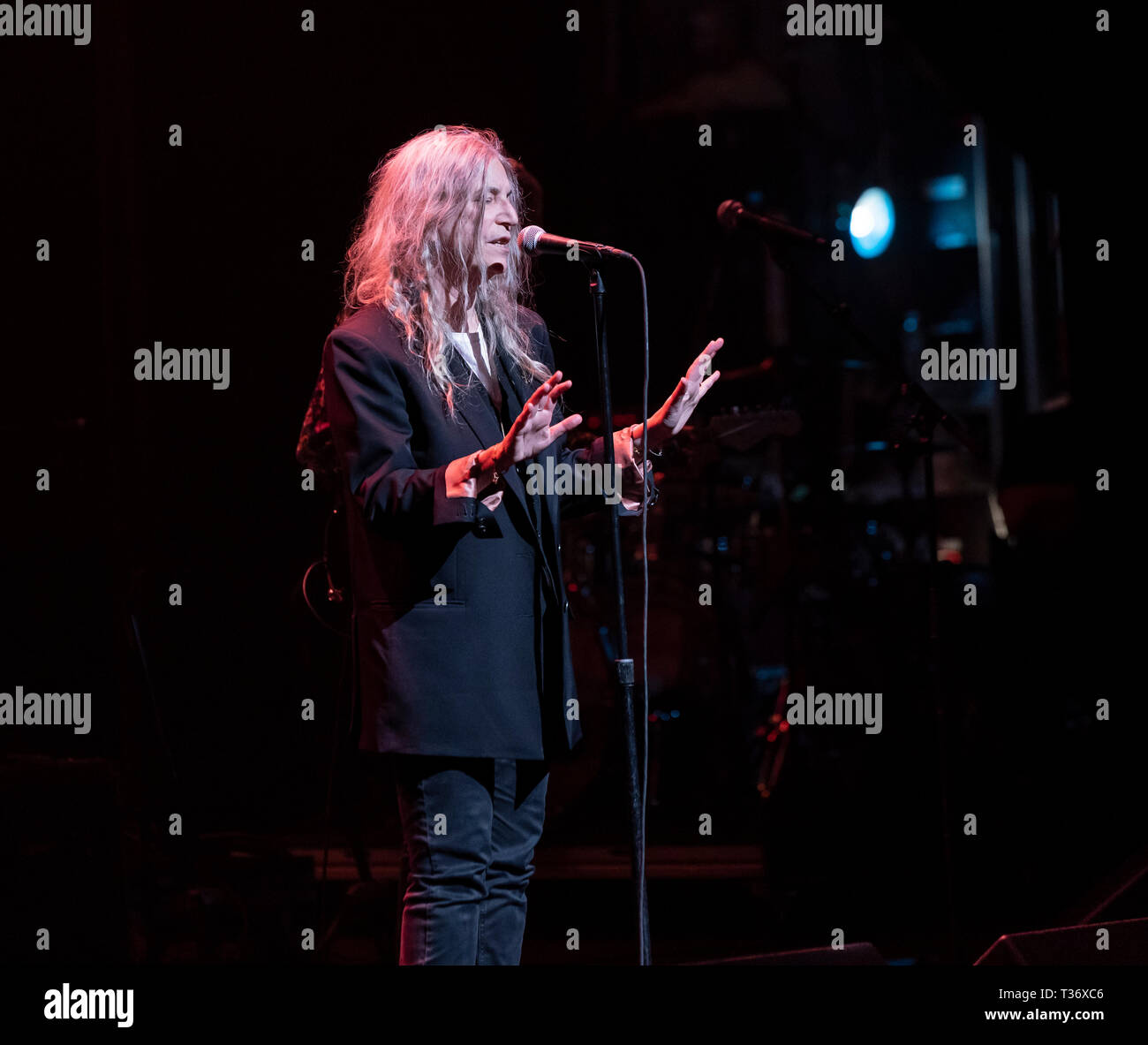 New York, NY - April 4, 2019: Patti Smith performs on stage