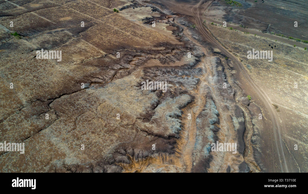 geographical feature rift valley, Tanzania Stock Photo