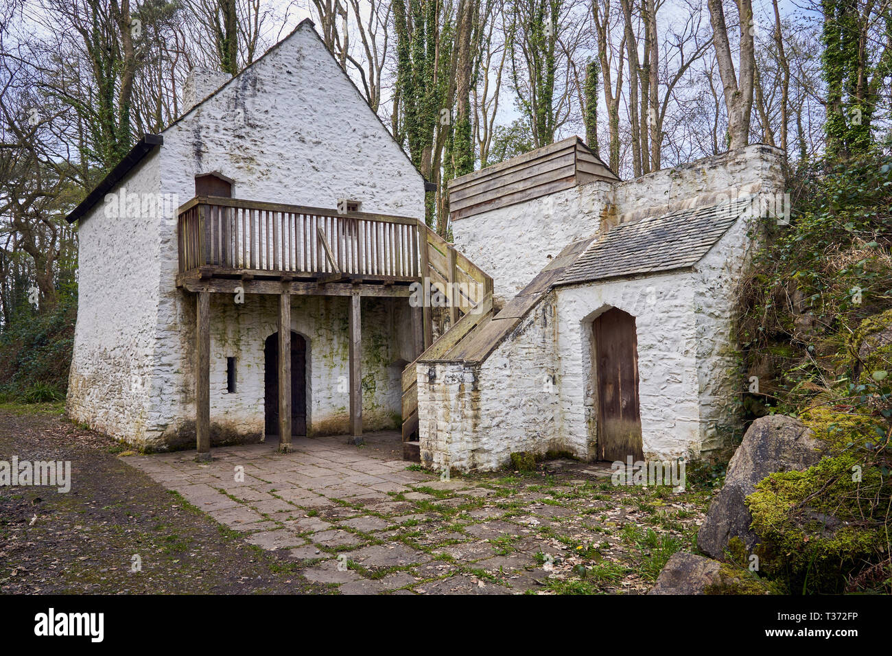 Tudor Merchant's House, St Fagans National Museum of History, Cardiff, South Wales - Stock Image