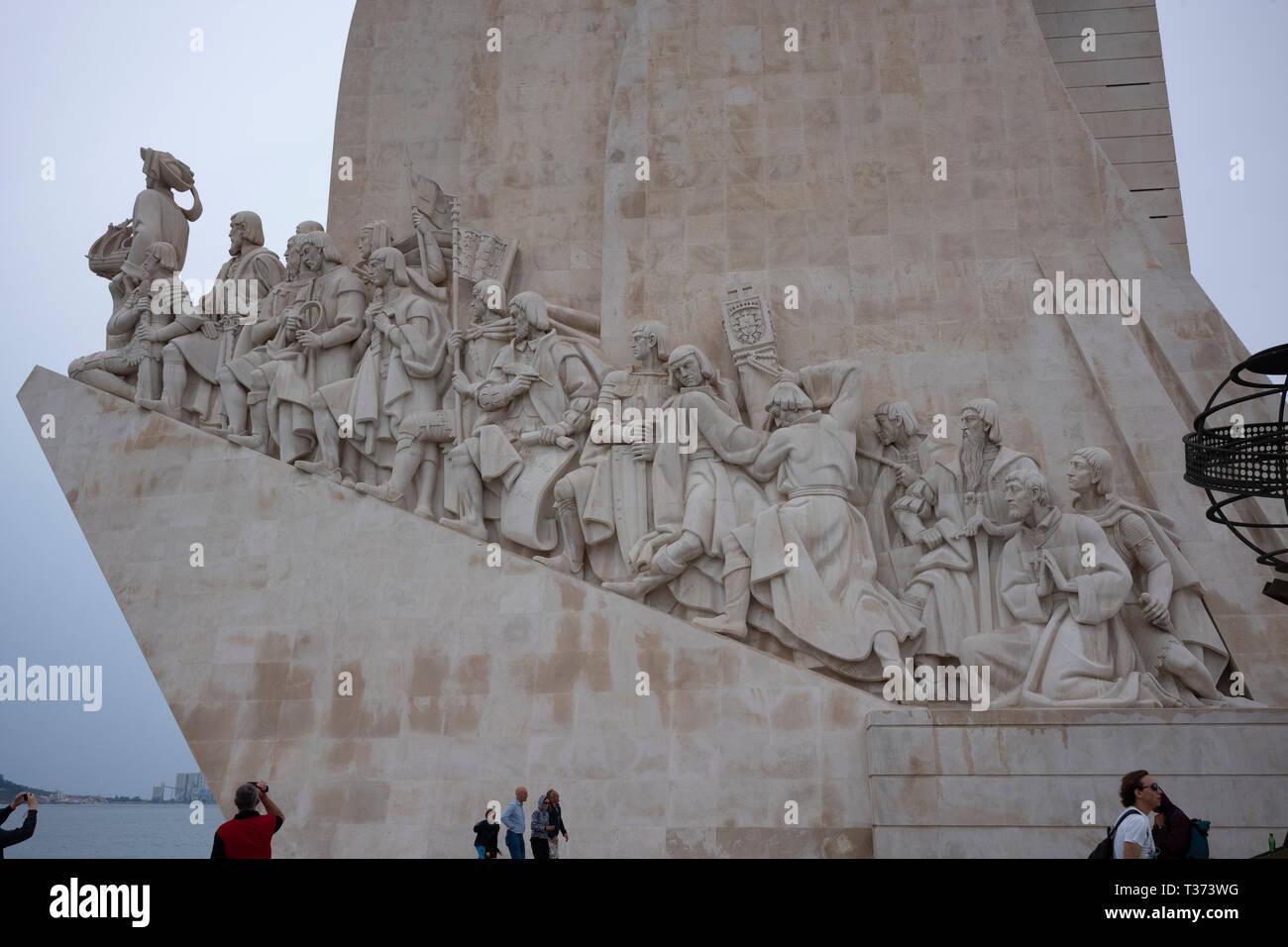 Padrão dos Descobrimentos, Monument of the Discoveries, Lisbon, Portugal. - Stock Image
