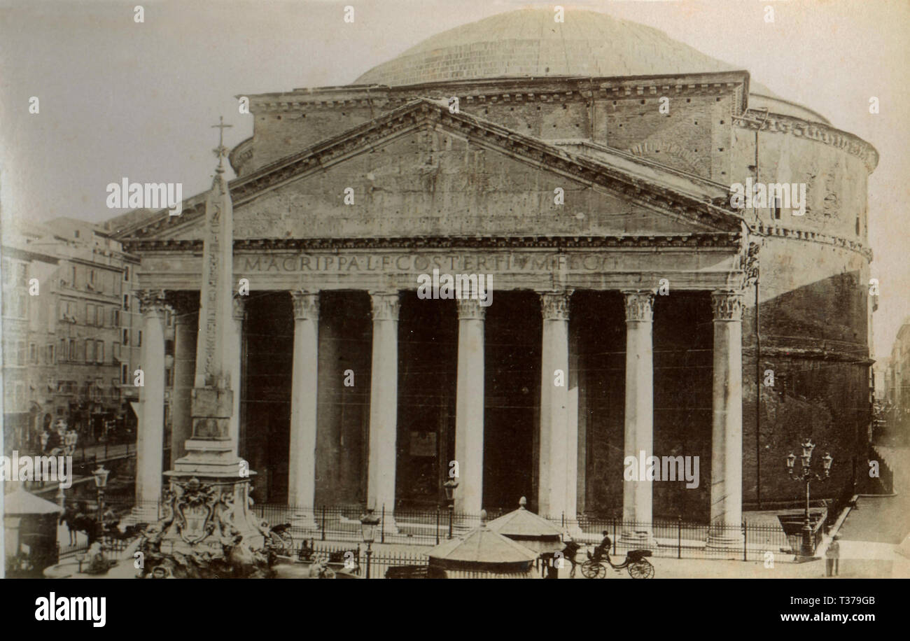 The Pantheon, Rome, Italy 1890s - Stock Image