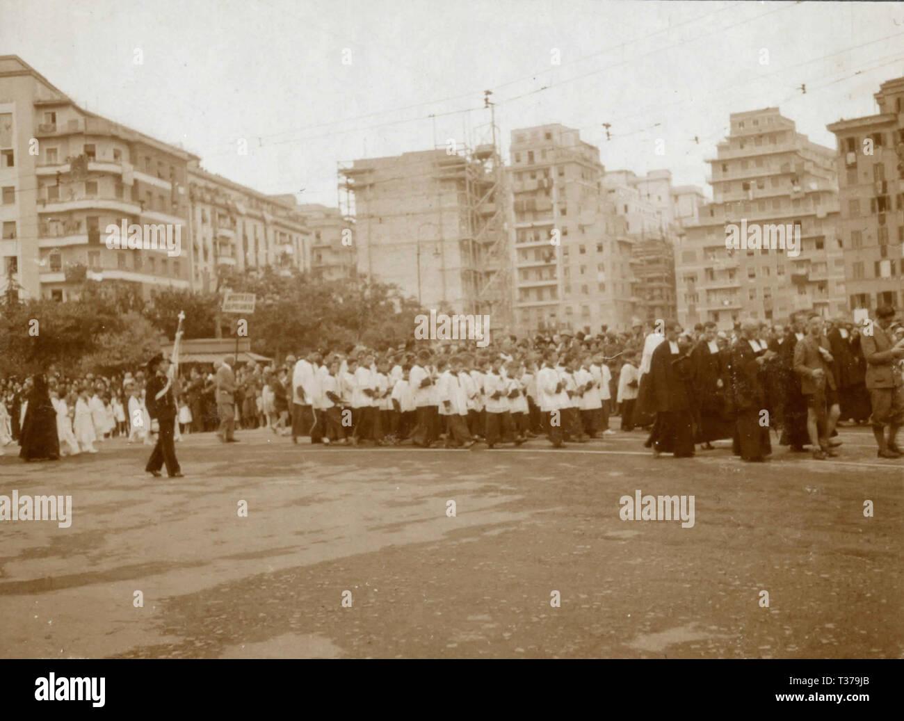 Corpus Domini procession, Rome, Italy 1920s - Stock Image