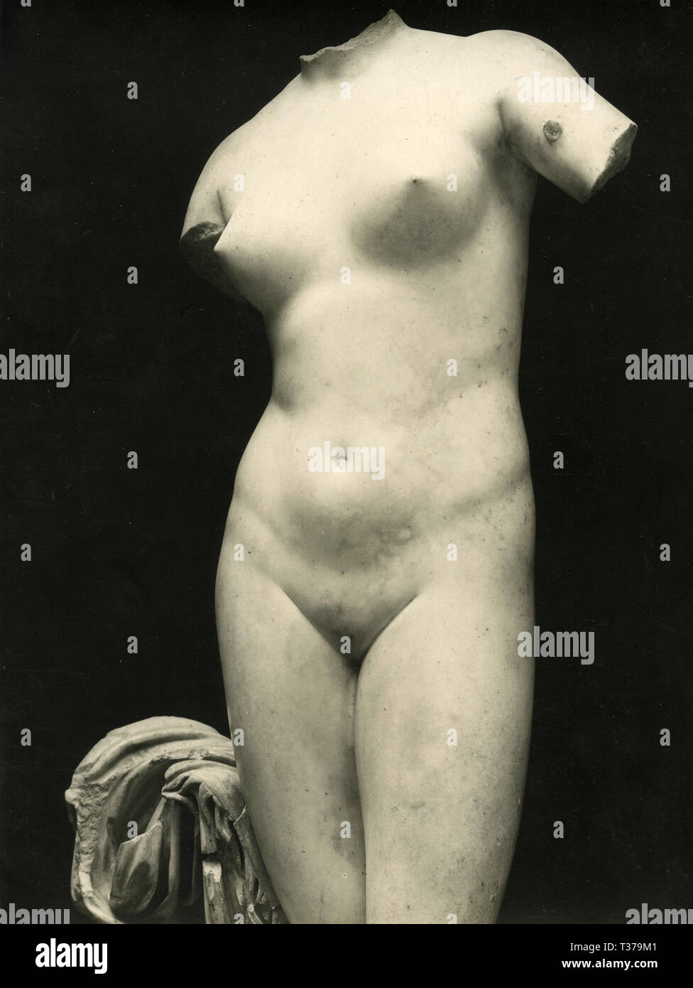 Greek marble statue of a woman, 1930s - Stock Image