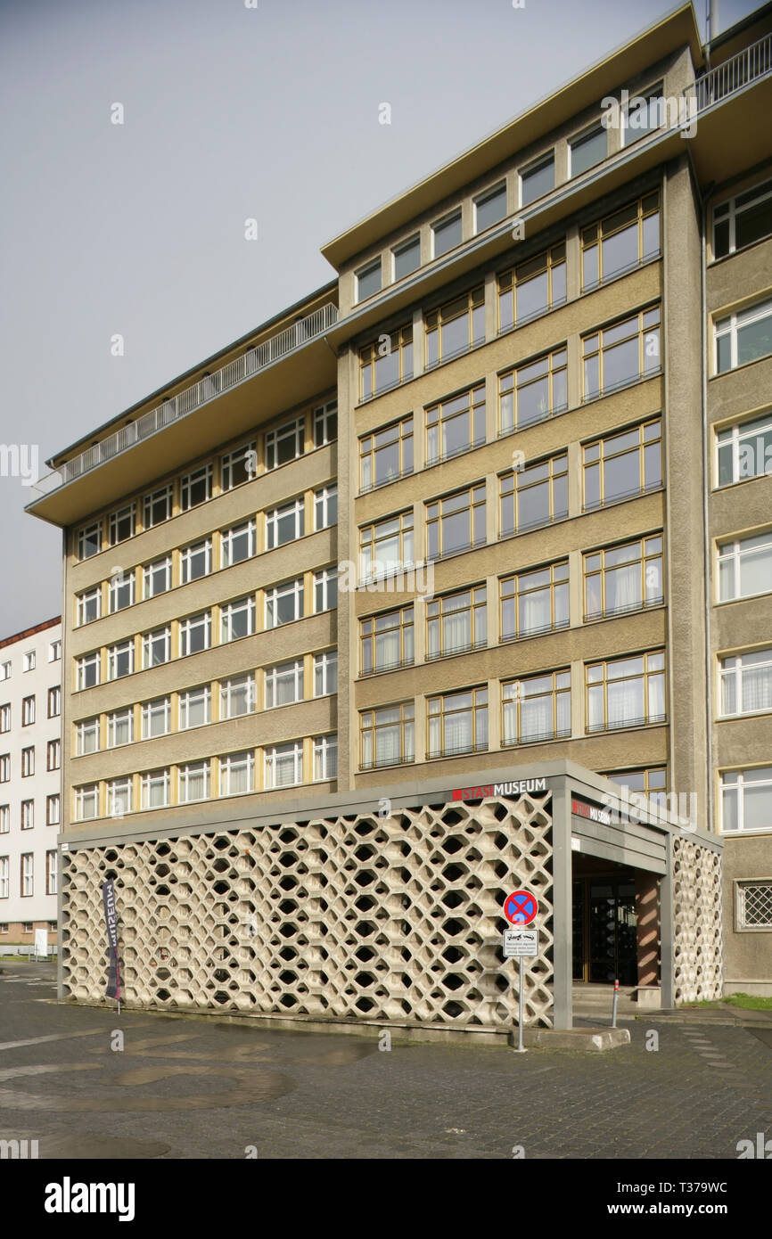 The Stasi Museum, Berlin, Germany, housed in the previous HQ of the Stasi. - Stock Image