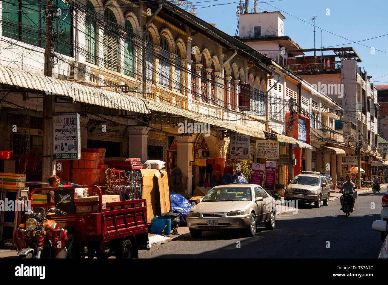 Magnificent Cambodia Kampong Kompong Cham Town Centre Shops In Old French Wiring 101 Akebretraxxcnl