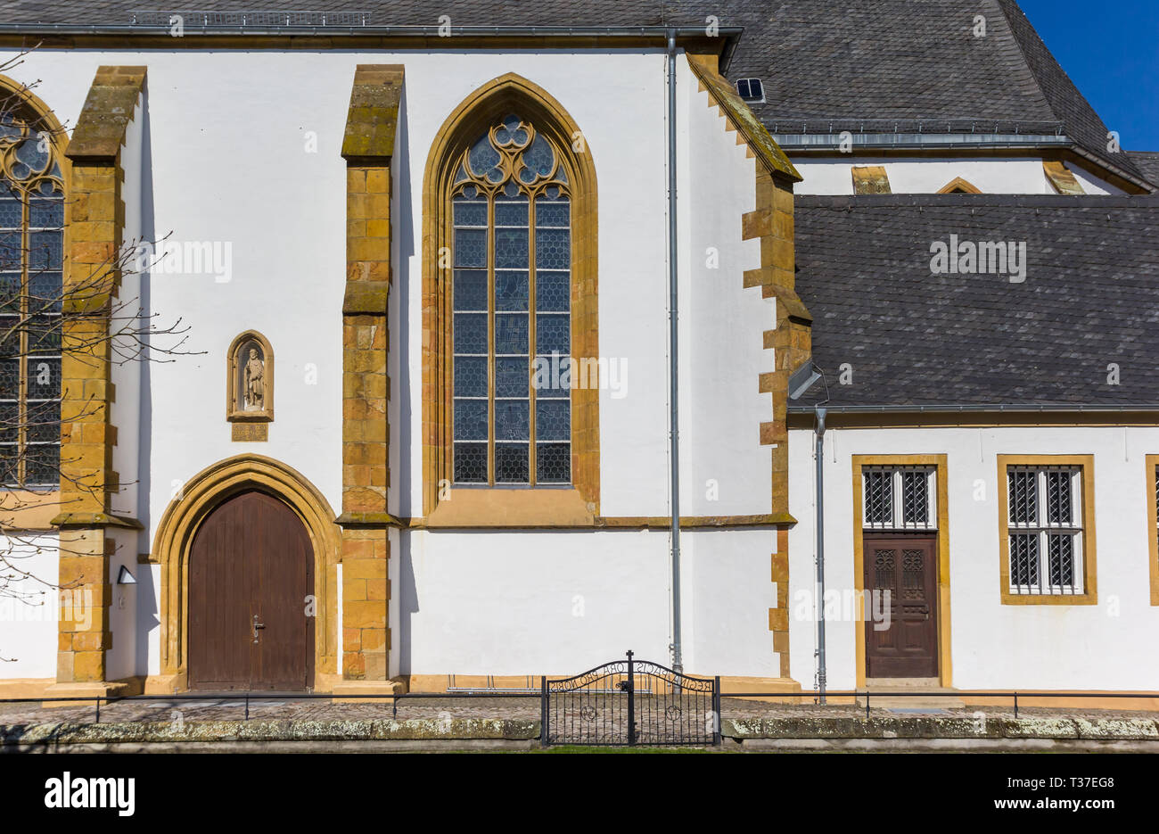 Doors and windows of the Franziskaner monastery in Wiedenbruck, Germany - Stock Image