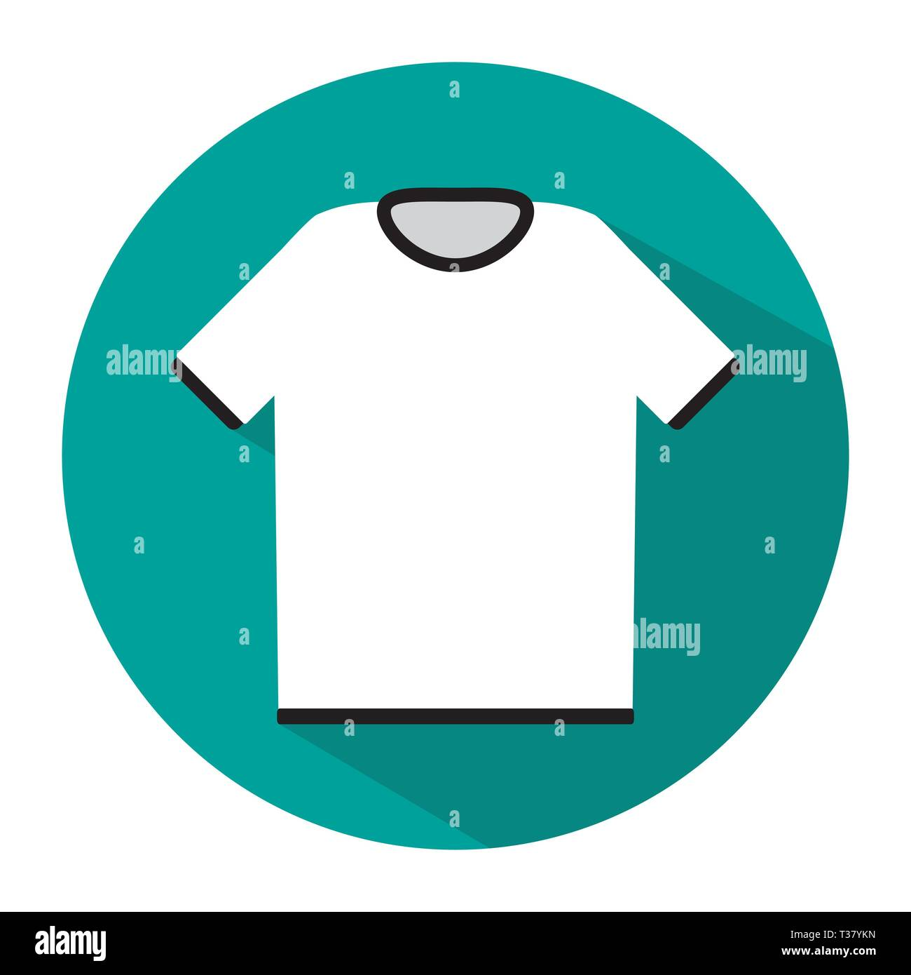 simple white tshirt icon with long shadow vector illustration in flat style stock vector image art alamy alamy