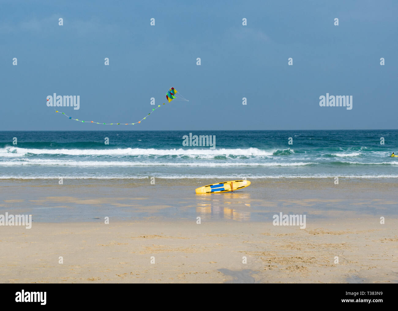 Cornwall, UK. 07th Apr, 2019. Sunny in St Ives.   Credit: Simon Maycock/Alamy Live News Stock Photo