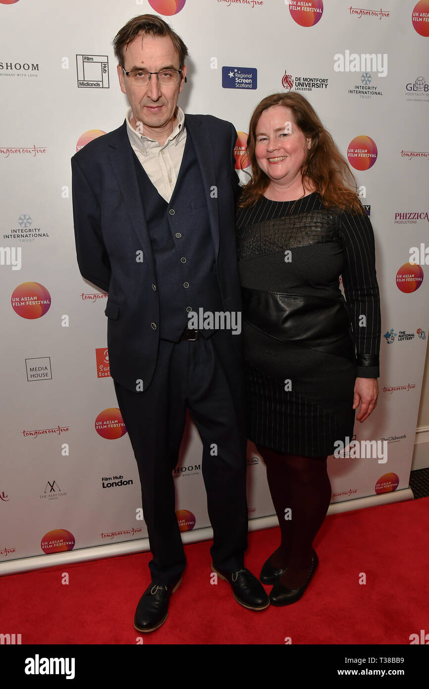 London, UK. 7th Apr 2019. David Somerset, BFI Southbank attends the UK Asian Film Festival closing flame awards gala - Red Carpet at BAFTA 195 Piccadilly, on 7 April 2019, London, UK Credit: Picture Capital/Alamy Live News - Stock Image