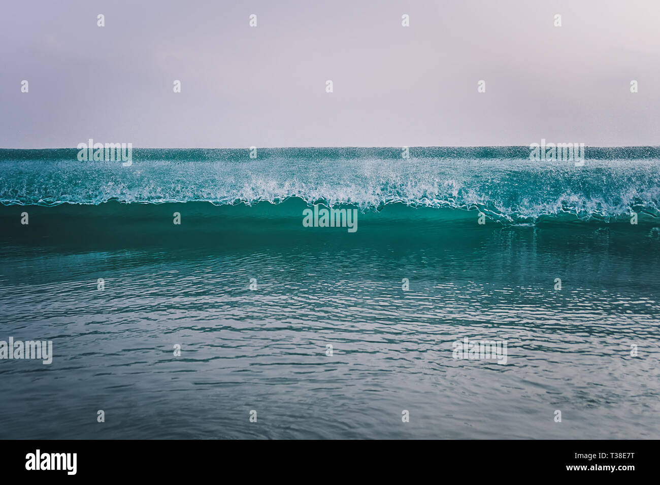345589824d ocean waves breaking by the shores of Gran Canaria - Stock Image
