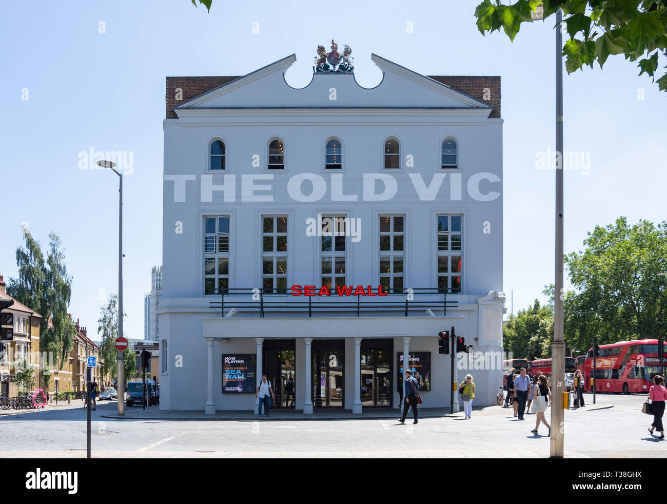 The Old Vic Theatre, Waterloo Road, The London Borough of Lambeth, Greater London, England, United Kingdom - Stock Image