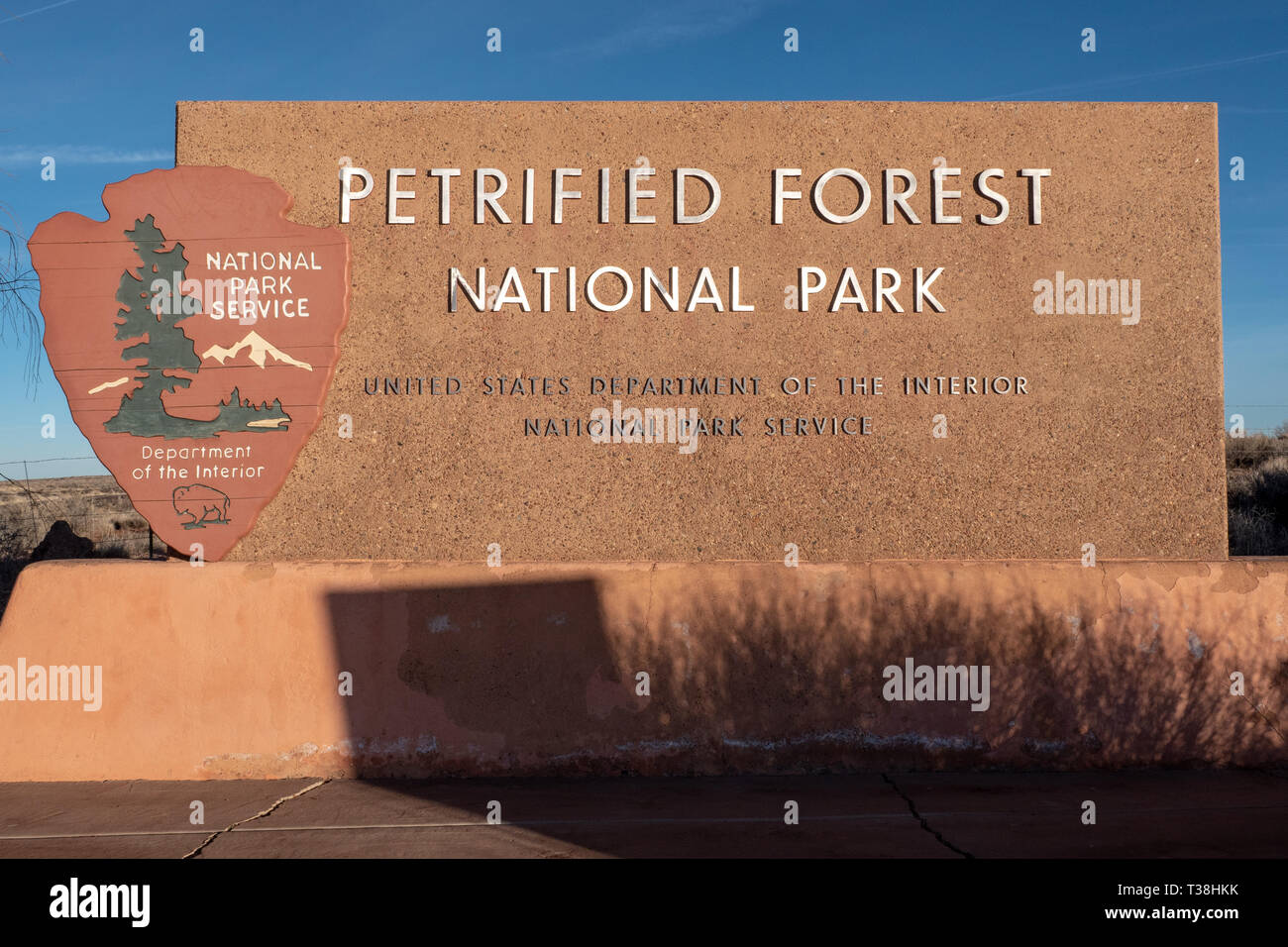 Petrified Forest National Park in Arizona, USA - Stock Image