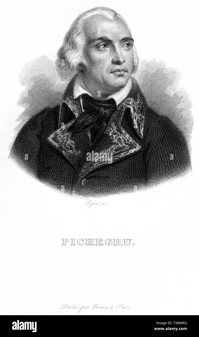 Europa, Frankreich, Jean-Charles Pichegru, französischer General der Revolutionskriege, Kupferstich von Pigeot , wahrscheinlich 1830er Jahre , ? , her Stock Photo