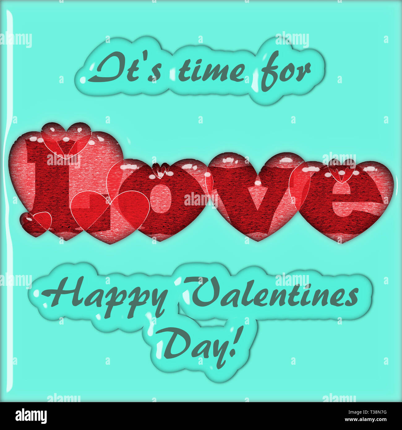 St. Valentine's Day Greeting Card... - Stock Image