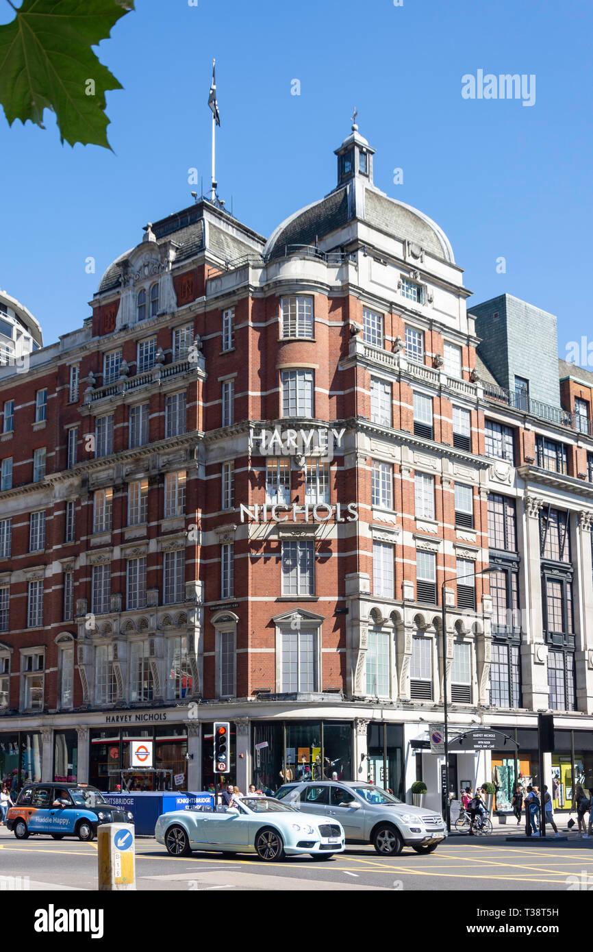 Harvey Nichols department store, Knightsbridge, Belgravia, City of Westminster, Greater London, England, United Kingdom - Stock Image
