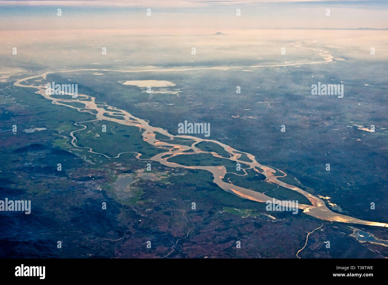 Ganges Aerial View India High Resolution Stock Photography And Images Alamy