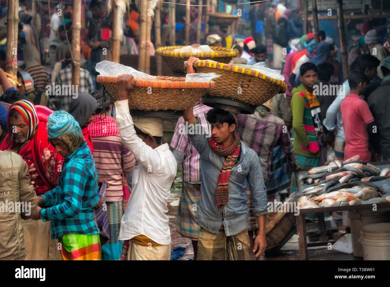 Fish market, Dhaka, Bangladesh - Stock Image