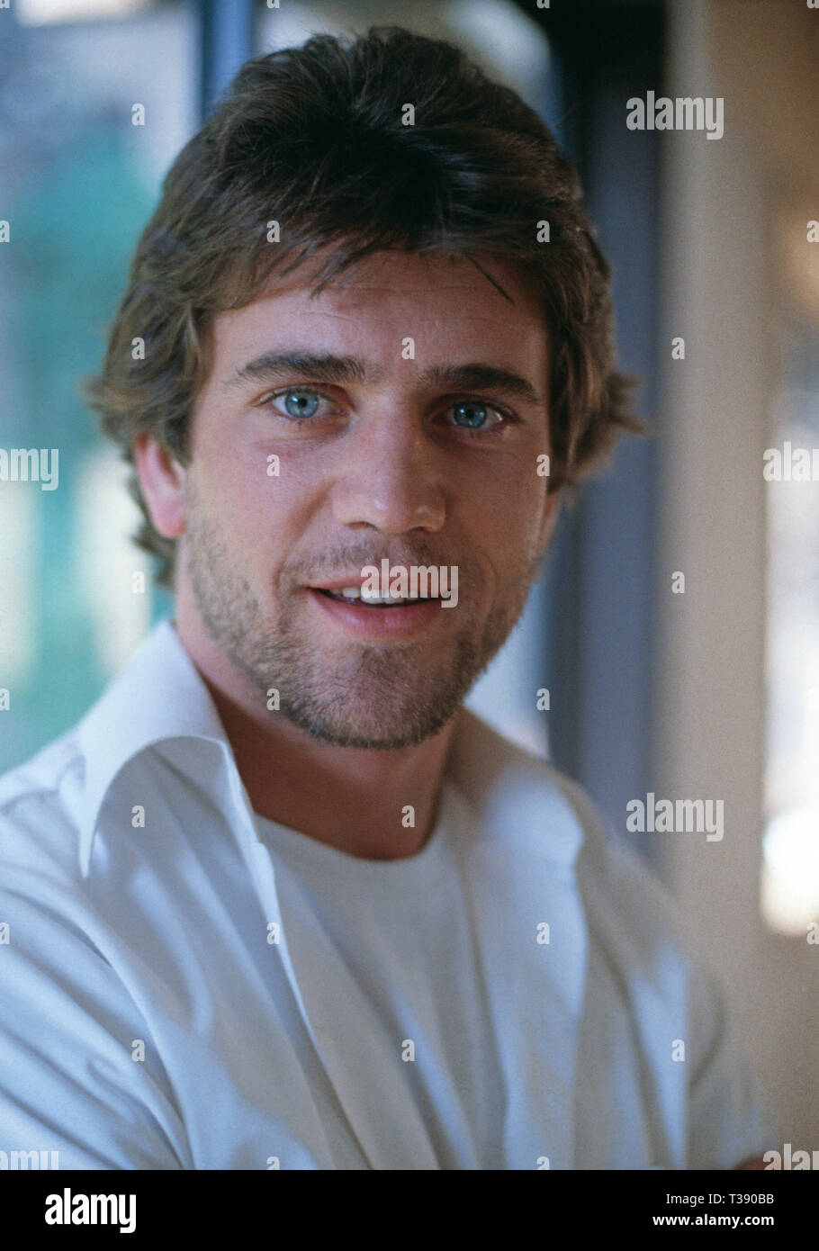 Celebrity. American-born Actor. Mel Gibson. Australia.1979. - Stock Image