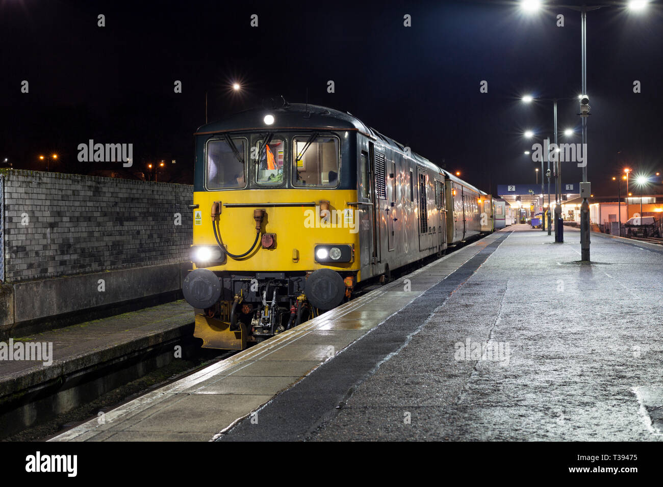 The Overnight Caledonian Sleeper Train From Fort William In